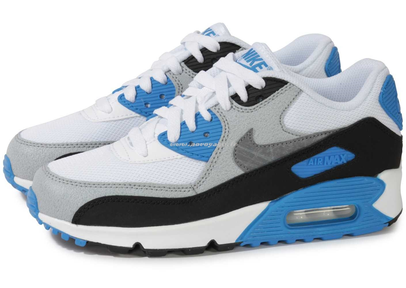 new products 4dd50 f9adc air max 90 bleu gris